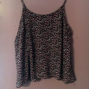 Tops - Flowered tank top
